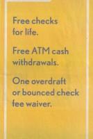 washington mutual free checking newspaper ad