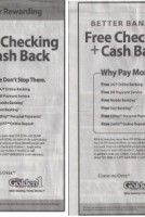 Free Checking newspaper advertising