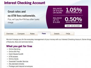 Ally Interest Checking Account