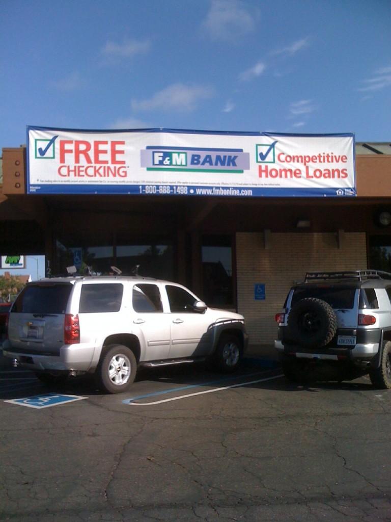 F&M Bank Free Checking Banner