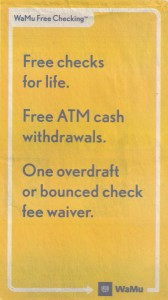 washington mutual free checking newspaper ad