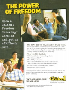 Golden1 The Power of Freedom Magazine Ad