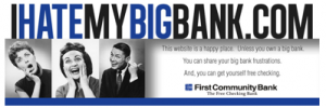 First Community Bank Takes On Big Banks With Free Checking