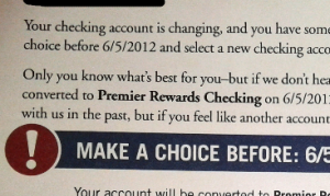 capital one no free checking letter
