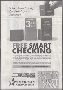 Free Smart Checking by American National Bank